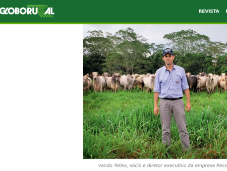 Globo Rural magazine shows examples of agribusiness that value standing forest