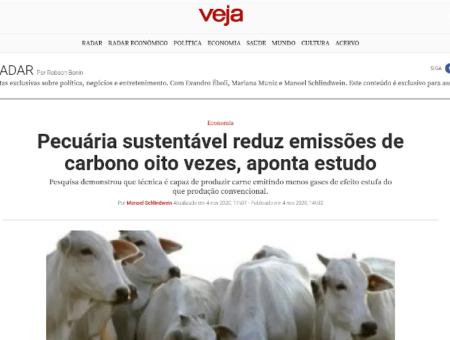Sustainable livestock production reduces carbon emissions eight times